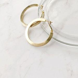 """Jewelry - 14K Gold Filled Large Hoop Earrings 1.5""""/4cm"""